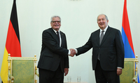 """""""Your contribution to the recognition of the Armenian Genocide is great"""": President Armen Sarkissian hosted the former President of Germany"""