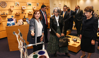 """Armenia is in our hearts"": Spouse of the President of Armenia Nouneh Sarkissian and Sheikha Hussah Sabah al-Salem al-Sabah of Kuwait visited the Cafesjian Center for the Arts"