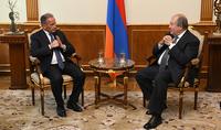 Շարունակվում է աշխատանքը Հայաստան ներդրումներ ներգրավելու ուղղությամբ.նախագահ Արմեն Սարգսյանն ընդունել է ֆրանսիացի հայտնի գործարար Անրի Պրոգլյոյին