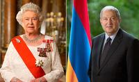 По случаю Праздника Независимости Президенту Саркисяну поздравительное послание прислала Королева Елизавета II