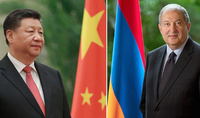 Xi Jinping sent a congratulatory message to President Armen Sarkissian: We attach the greatest importance to the development of the Chinese-Armenian relations