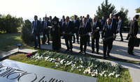По случаю Праздника Независимости Президент Армен Саркисян посетил Воинский пантеон «Ераблур»