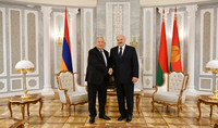 President of Belarus Alexander Lukashenko congratulated President Armen Sarkissian: Armenia is moving steadily forward down the road of strengthening its statehood