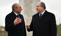 President Bako Sahakian sent a congratulatory message to President Sarkissian: All Armenians have to do their best for a continuous strengthening and development of the independent statehood