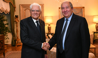 President Sarkissian met with Sergio Mattarella: Presidents of Armenia and Italy are ready to put great efforts into the development of bilateral relations