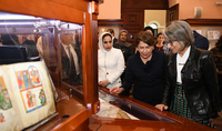New prospects of cultural cooperation: Spouse of the President Mrs. Nouneh Sarkissian and Sheikha Hussah Sabah al-Salem al-Sabah of Kuwait visited Matenadaran