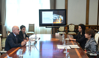 Spouse of the President Mrs. Nouneh Sarkissian met with delegation of AGBU