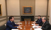 Leonardo Italian company is taking more practical steps: President Sarkissian was presented documents prepared by company on cooperation with Armenia