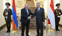 President Sarkissian hosted Prime Minister of Singapore Lee Hsien Loong: Relations between our countries are progressing in the right direction