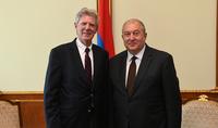 Президент Армен Саркисян принял конгрессмена США Фрэнка Паллоне