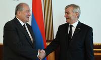 Армения и Литва имели общую историю и имеют большой потенциал дальнейшего углубления отношений - Президент Саркисян принял делегацию, возглавляемую Спикером Сейма Литвы