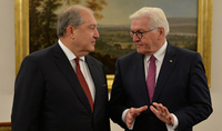 President Armen Sarkissian sent a congratulatory message to the President of Germany Frank-Walter Steinmeier on the occasion of Reunification Day