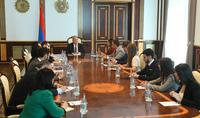 Հանրապետության նախագահ Արմեն Սարգսյանը հյուրընկալել է «Երիտասարդ առաջնորդների միջազգային դպրոց»-ի մասնակիցներին