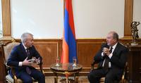 Նախագահ Արմեն Սարգսյանն ընդունել է իտալական Confindustria Russia կազմակերպության պատվիրակությանը