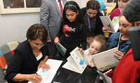 Create fairytales and publish them: Spouse of the President of Armenia Mrs. Nouneh Sarkissian presented to kids her and her granddaughter's book