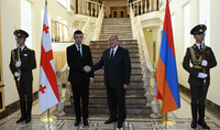 Մեծ հնարավորություններ երկու պետությունների և ժողովուրդների համար. նախագահ Սարգսյանը հյուրընկալել է Վրաստանի վարչապետ Գեորգի Գախարիային