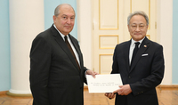 Newly appointed Ambassador of the Republic of Korea presented his credentials to President Armen Sarkissian: Armenia and Korea can successfully cooperate in the areas of science and technologies