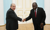 Newly appointed Ambassador of Zambia in Armenia presented his credential to Armen Sarkissian