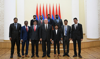 President Sarkissian hosted Indian entrepreneurs and representatives of B.E.S.T. University : Armenian Summit of Minds as a source of new opportunities for coopration
