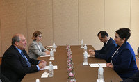 Ժամանակն է նոր թափ ու որակ հաղորդել երկկողմ հարաբերություններին. նախագահ Սարգսյանը հանդիպել է Ուզբեկստանի Սենատի նախագահի հետ