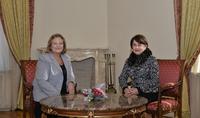 Հայաստանի նախագահի տիկին Նունե Սարգսյանը հյուրընկալել է Հունաստանի նախագահի տիկնոջը
