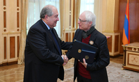 The greater legacy we leave, the richer we will be: President Armen Sarkissian handed the first degree Order for the Services Rendered to Fatherland to the renowned composer Tigran Mansurian