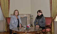 Spouse of the President Mrs. Nouneh Sarkissian hosted the spouse of the President of Greece