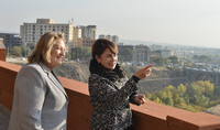 """Mrs. Nouneh Sarkissian and Mrs. Vlasia Pavlopoulos visited """"Yerevan, My Love"""" Fund"""