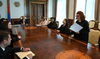 Դատարանն առաջին հերթին այն դատավորն է, որի հետ քաղաքացին շփվում է. Հանրապետության նախագահի նստավայրում տեղի է ունեցել նորանշանակ դատավորների երդման արարողությունը