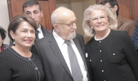 Spouse of the President Mrs. Nouneh Sarkissian was present at the musical event dedicated to Krzysztof Penderecki