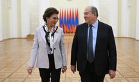 Հայ-ղազախական հեռանկարային հարաբերություններ. նախագահ Սարգսյանը հյուրընկալել է Ղազախստանի խորհրդարանի Սենատի նախագահ Դարիգա Նազարբաևային