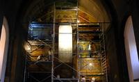 При содействии Президента Армена Саркисяна реставрируется фреска «Слава армянской письменности и грамоте» в церкви Святого Месропа Маштоца в Ошакане