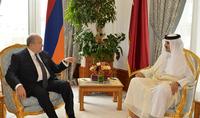 Կատարը չեղարկում է Հայաստանի քաղաքացիների համար մուտքի արտոնագրի պահանջը․ տեղի է ունեցել Հայաստանի Հանրապետության նախագահ Արմեն Սարգսյանի և Կատարի Պետության էմիր Թամիմ բին Համադ Ալ Թանիի առանձնազրույցը