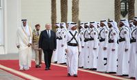 Կատարի էմիրի դիվանում տեղի է ունեցել Հանրապետության նախագահ Արմեն Սարգսյանի դիմավորման պաշտոնական արարողությունը