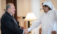 Նախագահ Արմեն Սարգսյանը հանդիպում է ունեցել Կատարի Հայր Էմիր Համադ բին Խալիֆա Ալ Թանիի հետ