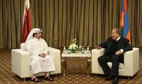 President Armen Sarkissian met with the Minister of Municipality and Environment Issues of the State of Qatar