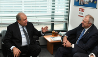 In the framework of EBRD Summit President Sarkissian met with the Prime Minister of Belarus