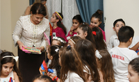 You have done a great job, you passed the Armenian language to the kids: spouse of the President Mrs. Nouneh Sarkissian in Qatar met with the pupils of the Mesropian school