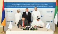 President Sarkissian attended the agreement signing ceremony between Masdar company and ANIF: this is only the beginning of a long journey