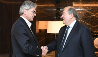 Siemens will look into the opportunities of cooperation with Armenia: President Sarkissian met in Abu Dhabi with the CEO of the company
