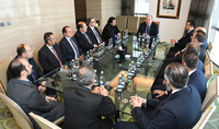 President Sarkissian in Aby Dhabi met with the representatives of the Armenian community