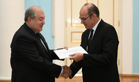 Cooperation with broad perspectives: the newly appointed Ambassador of the South African Republic presented his credentials to President Sarkissian