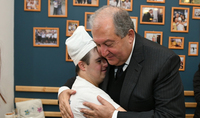 At the beloved venue: President Armen Sarkissian in Gyumri was hosted at the Aregak inclusive bakery-café