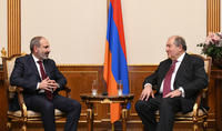Armen Sarkissian and Nikol Pashinian discussed issues related to the country's development: it is essential that state institutions function in sync