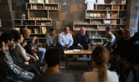 """President Sarkissian met with the members of the """"Gyumri Is My Home"""" youth initiative: Never be scared to work with the people who are smarter and more experienced than you"""