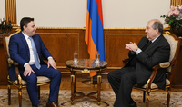President Armen Sarkissian hosted the world famous violinist Maxim Vengerov: audience will enjoy once again the great art of the virtuoso violinist