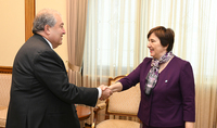 ЮНИСЕФ - хороший пример того, как можно, объединив усилия, достигнуть хороших результатов. Президент Саркисян принял представителей команды ЮНИСЕФ в Армении