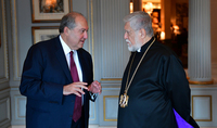 Телефонный разговор Президента Саркисяна с Католикосом Великого Дома Киликийского Арамом I