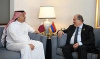 Նախագահ Արմեն Սարգսյանը հանդիպել է Կատարի փոխվարչապետ և պաշտպանության նախարար Խալիդ բին Մոհամեդ Ալ Աթիյայի հետ