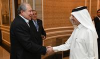 Президент Саркисян обсудил с директором Katar Airways перспективы расширения сотрудничества.